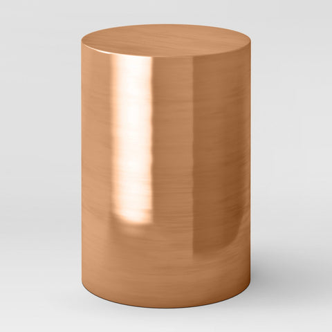 Copper Pillar Accent Table