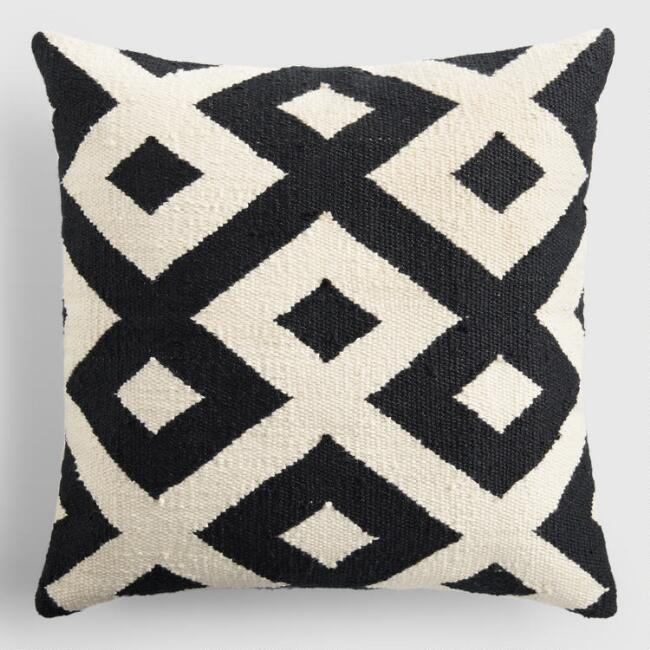 Black & White Geo Throw Pillow