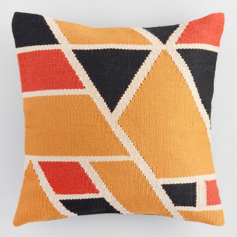 Multicolor Geo Woven Pillow