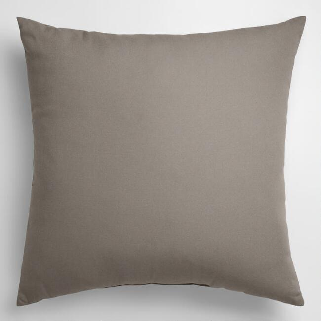 Solid Gray Throw Pillow