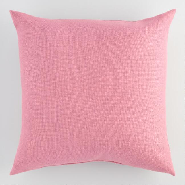 Solid Orchid Woven Pillow