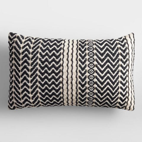 Black & White Zigzag Pillow