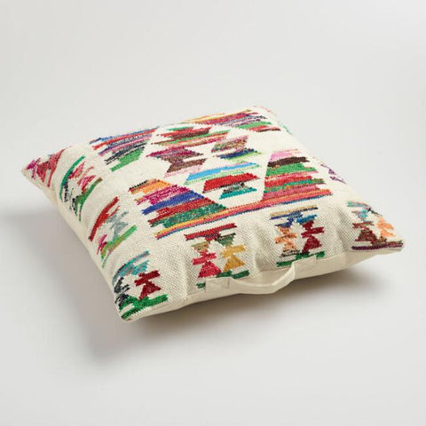 Multicolor Kilim Floor Pillow