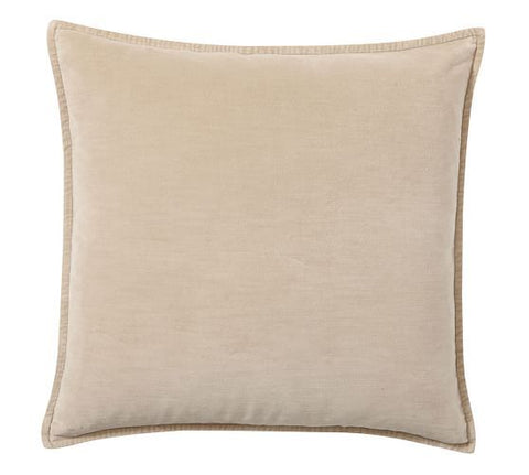 BEIGE VELVET PILLOW