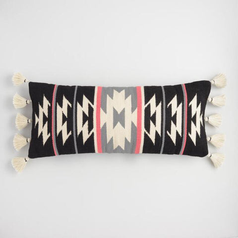 Black/White/Pink Geo Lumbar Pillow