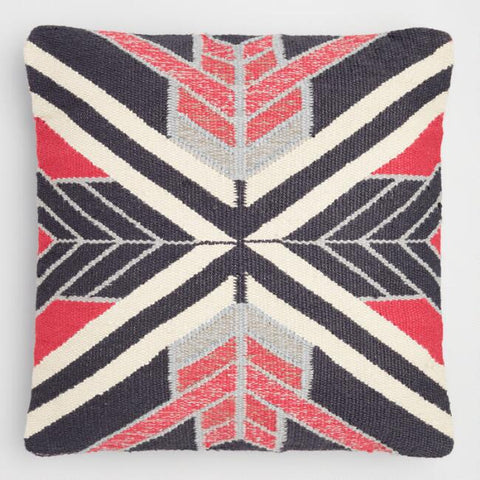 Woven Angles Throw Pillow