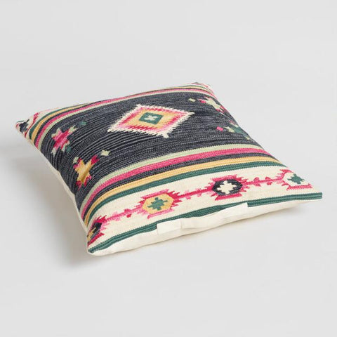 Black Gabbeh Kilim Floor Pillow