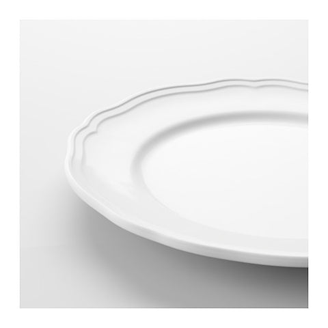 Scalloped Salad Plate- White 9