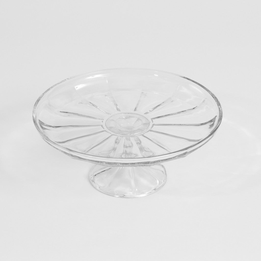 Cake Stand - Sliced Glass Pedestal