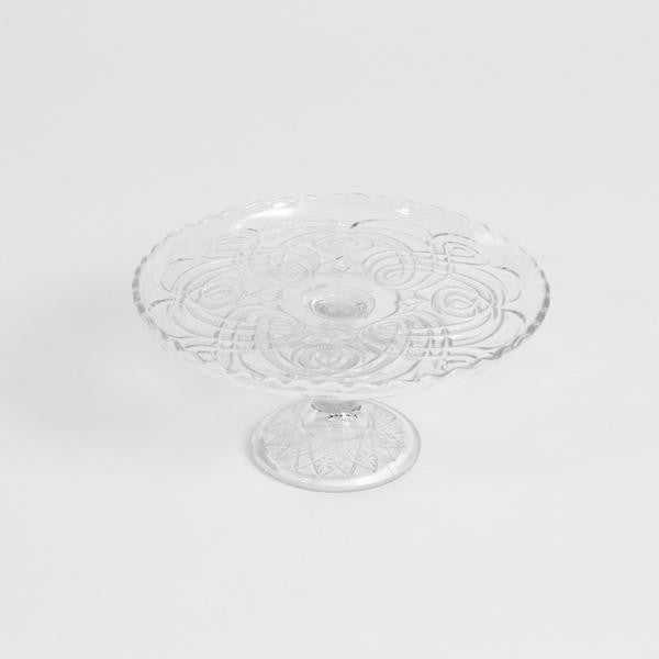 Cake Stand- Small Glass Etched
