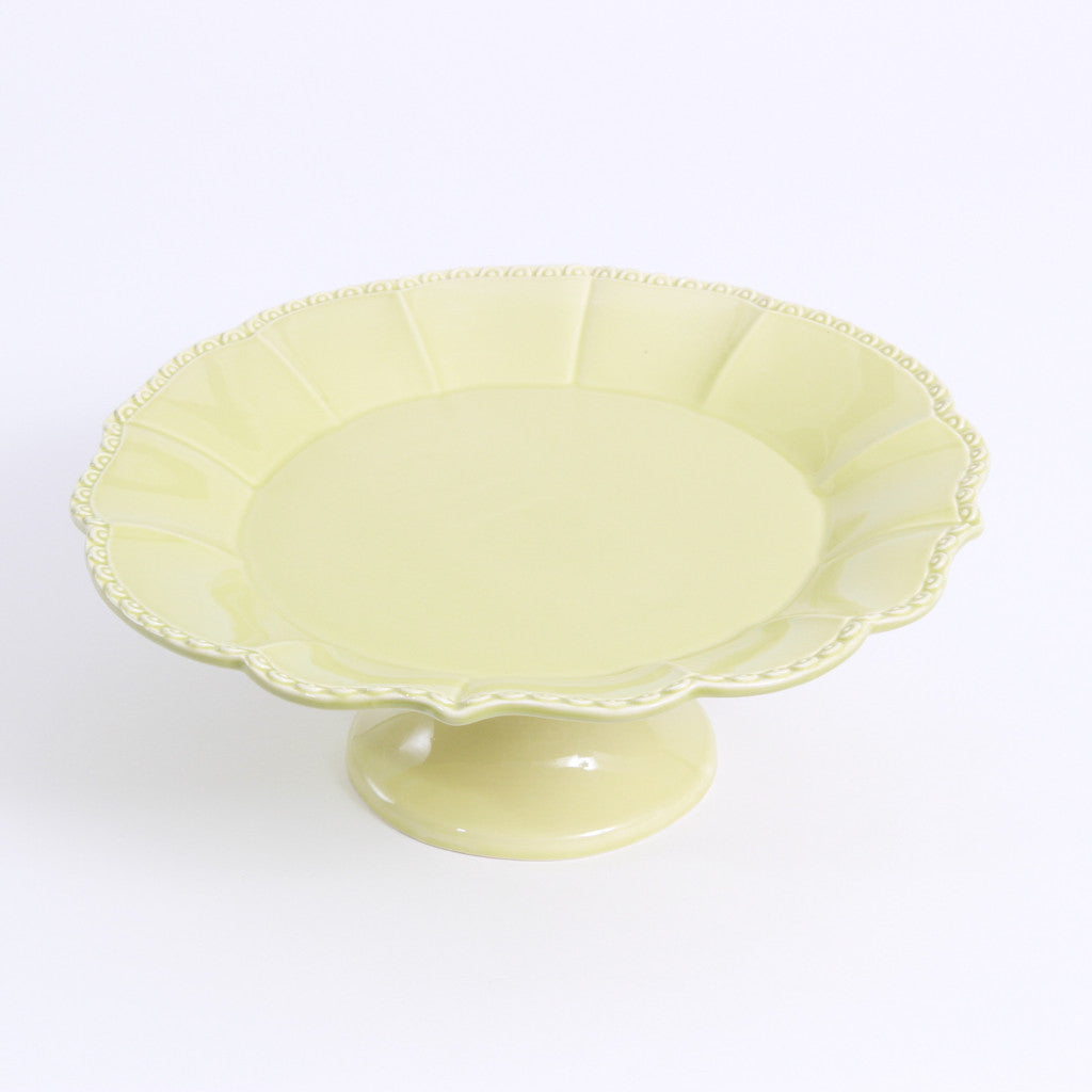 Cake Stand - Yellow/Green Pedestal