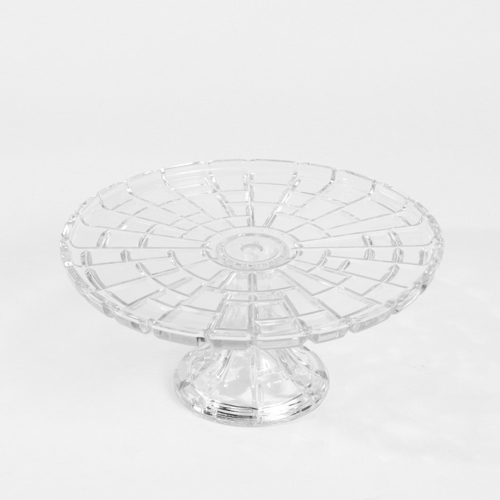 Cake Stand - Cubed Glass