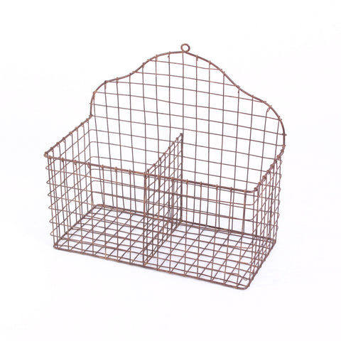 Vintage Dark Wire Basket