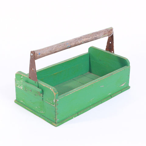 Crate - Teal Wooden Tool Box