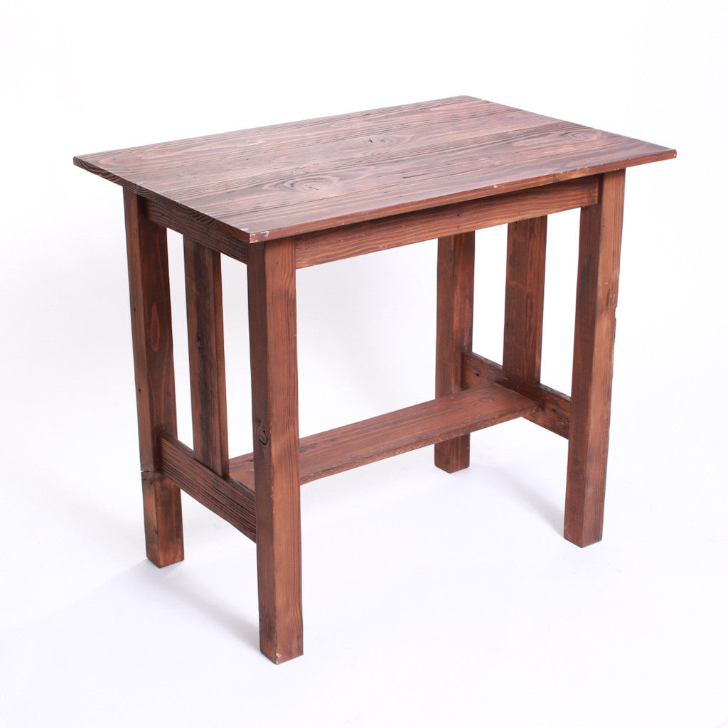 Stained Wood Accessory Table
