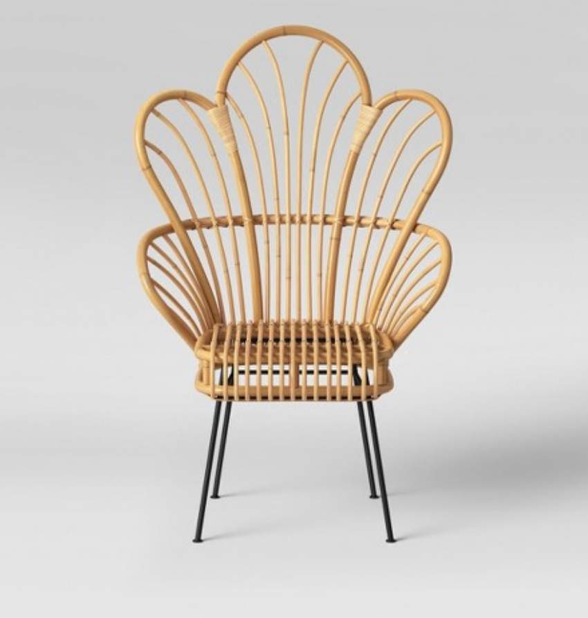 Rattan Fan Back Chairs