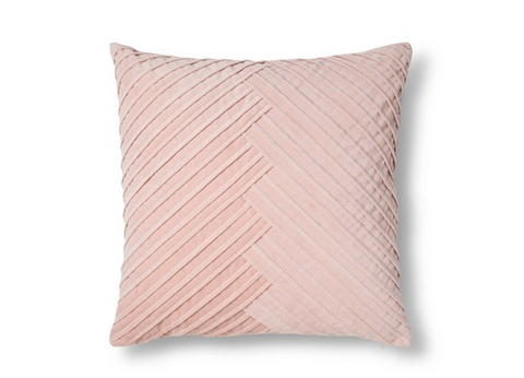 Blush Pleated Velvet Pillow