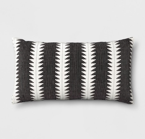Black Global Throw Pillow