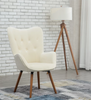 Ivory Velvet Arm Chair