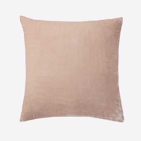 Blush Velvet Throw Pillow