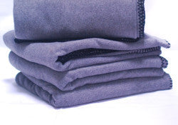 Charcoal Fleece Throws