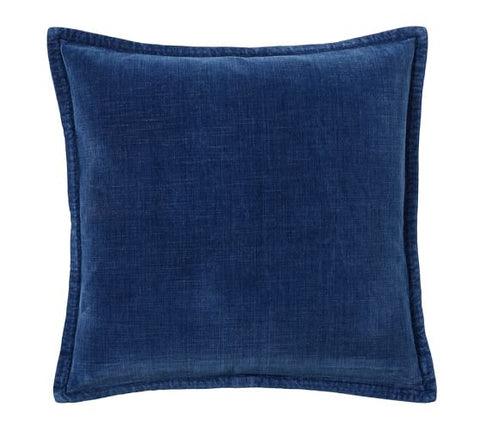INDIGO BRUSHED VELVET PILLOW