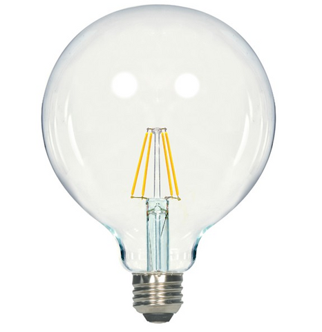 4.5W 120V G40 LED Filament Bulb - Pack of 6