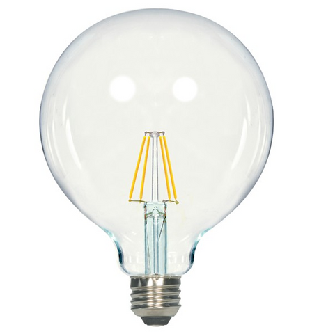 6.5W 120V G40 LED Filament Bulb - Pack of 6