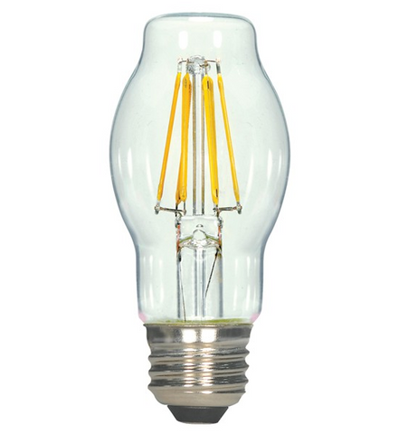 6.5W 120V BT15 LED Filament Bulb - Pack of 6