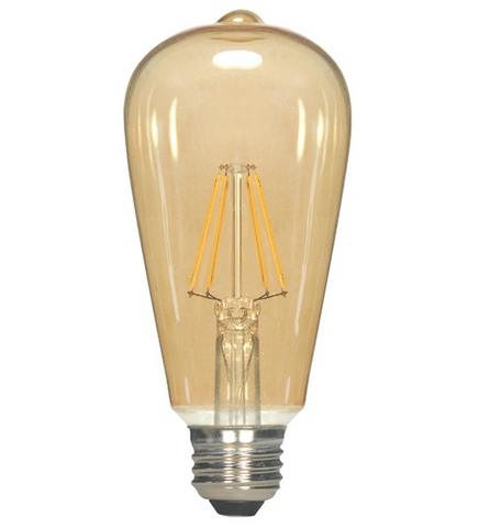 2.5W 120V ST19 Vintage LED Filament Bulb - Pack of 6