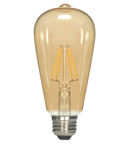 4.5W 120V ST19 Vintage LED Filament Bulb - Pack of 6