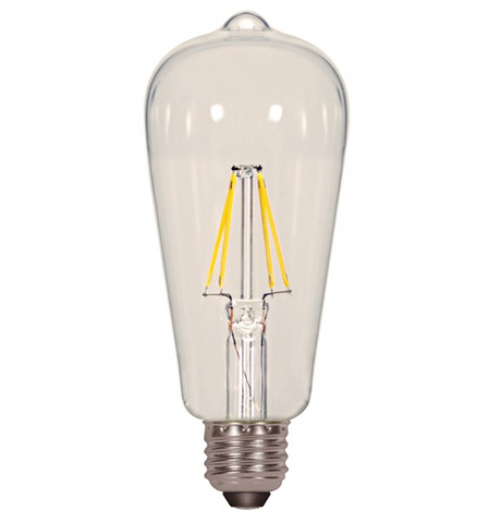 6.5W 120V ST19 LED Filament Bulb - Pack of 6