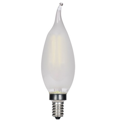 3.5W 120V CA11 LED Filament Candle Bulb, E12 base - Pack of 6