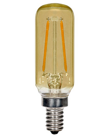 2.5W 120V T6 Vintage LED Filament Bulb, E12 base - Pack of 6
