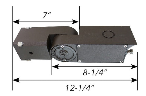 "Adjustable slip fitter for pole mount 2""—2-1/2"" with K/O to install PC or sensor"