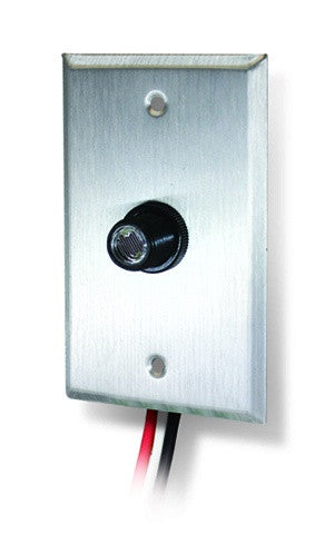 500W Button photocontrol with Wall Plate - 120V