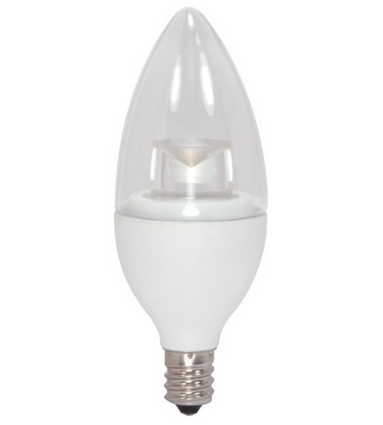 2.8W 120V Torpedo LED Bulb, E12 base - Pack of 6