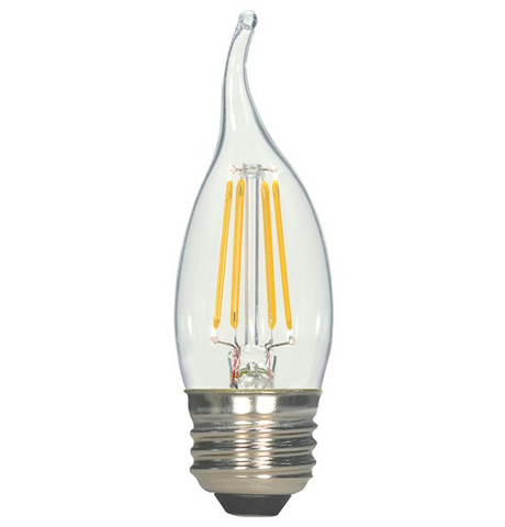 4.5W 120V CA11 LED Filament Candle Bulb - Pack of 6