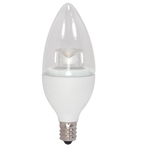 5W 120V LED Candle Bulb, E12 base - Pack of 6