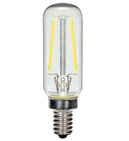 2.5W 120V T6 LED Filament Bulb, E12 base - Pack of 6