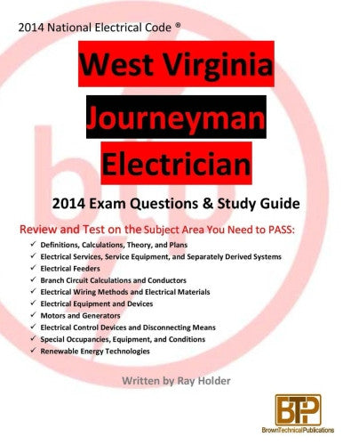 West Virginia 2014 Journeyman Electrician Study Guide