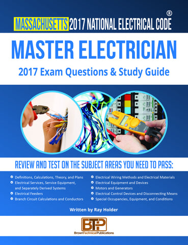Massachusetts 2017 Master Electrician Study Guide