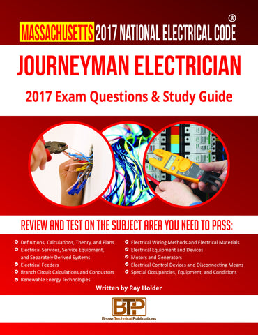 Massachusetts 2017 Journeyman Electrician Study Guide