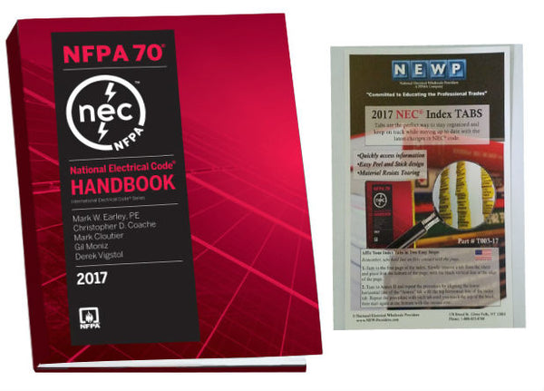 NFPA 70: National Electrical Code (NEC) Handbook, 2017 Edition with Tabs