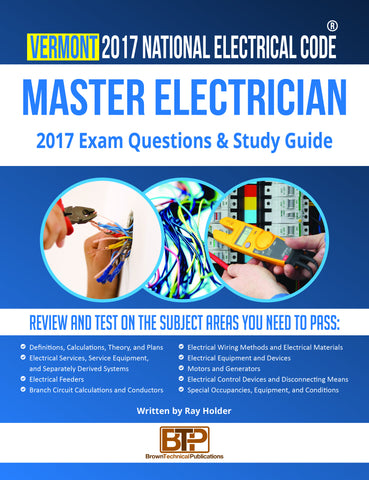Vermont  2017 Master Electrician Study Guide
