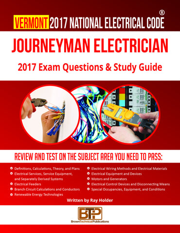 Vermont 2017 Journeyman Electrician Study Guide