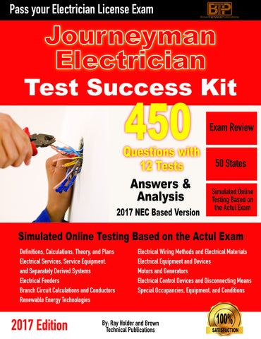 2017 Journeyman's Electrician Licensing Online Tests