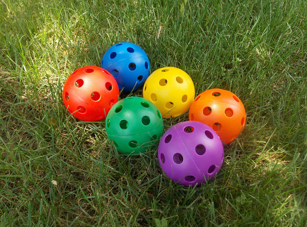 6 Colored Wiffle Balls - B-RamSports