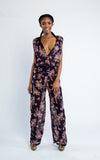 v-neck floral jumpsuit - Miss Jumpin