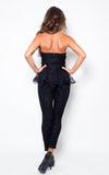 black lace jumpsuit-back - Miss Jumpin